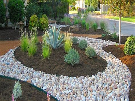River Rock Garden Ideas Landscape Design Mulch And River Rock Landscaping River Rock Edging Ideas Interior