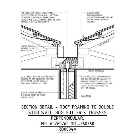 gutter section mrtfc building class 1a townhouses woodsolutions