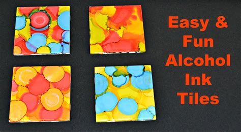 tile craft crafts using india ink on canvas
