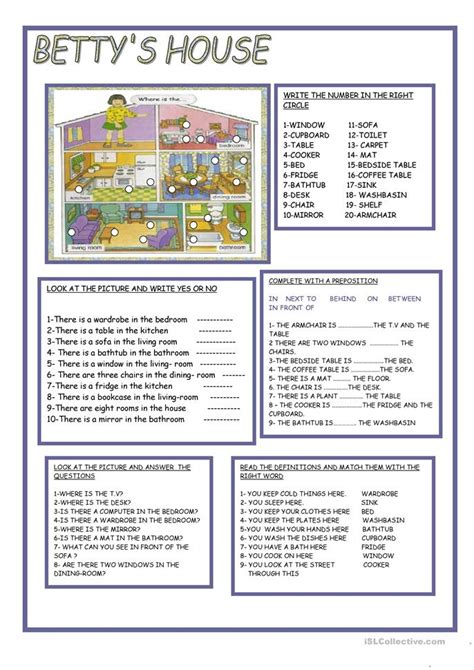 how to describe a couch betty s house worksheet free esl printable worksheets