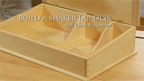 build  shaker lap desk trailer youtube