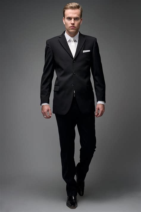 Black Formal Style Suit 41444 black elevate a basic black suit with the