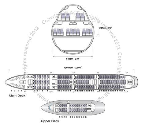 Boeing 747 Cabin Layout boeing 747 200 400 800