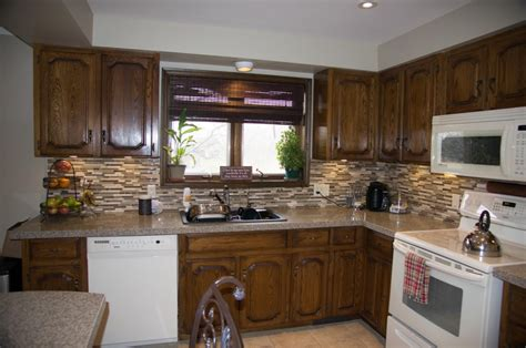kitchen cabinet upgrade gel stain your kitchen cabinets update 2 years later