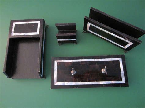 Maitland Smith Philippines Black Desk Set For Sale Black Desk Accessories