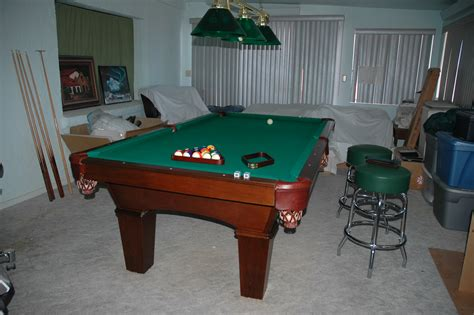 the table used used 8 olhausen pool table for sale