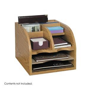 Corner Desk Organizer Safco 9425mo Wood Corner Desk Organizer Medium Oak Atg Stores