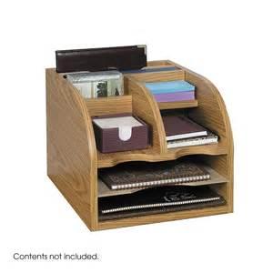 Office Desk Organisers Safco 9425mo Wood Corner Desk Organizer Medium Oak Atg Stores