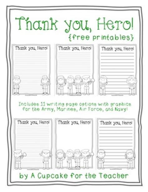 Cards For Soldiers Template by Thank You Free Printables By A Cupcake For The
