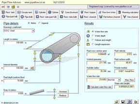 pipe flow advisor for modeling flow in open channels and tanks