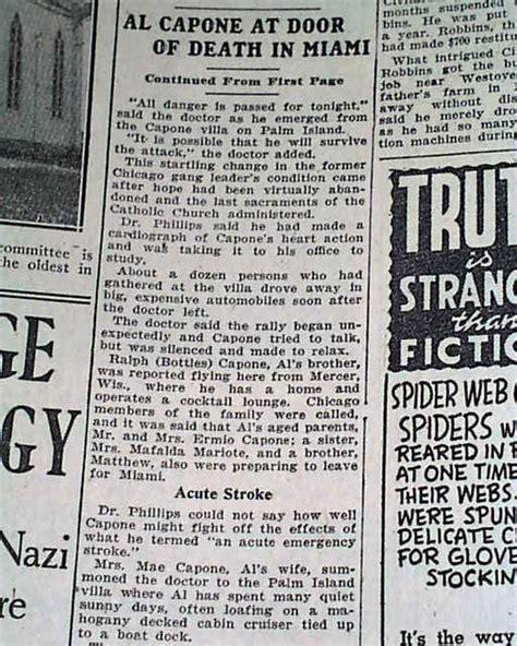 al capone s wars a complete history of organized crime in chicago during prohibition books al capone near in 1947 rarenewspapers