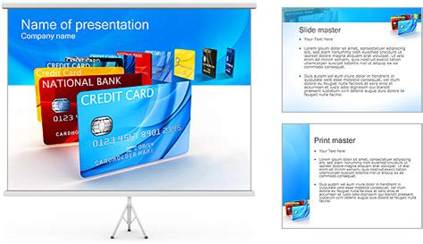 Credit Card Powerpoint Template by Credit Card Powerpoint Template Backgrounds Id