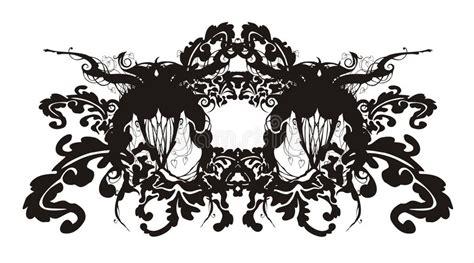 barok stijl bloemen abstract bloemen barok ornament vector illustratie