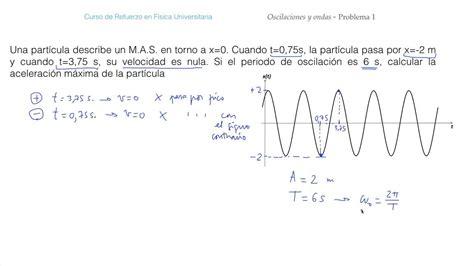 oscilacion en ondas oscilaciones y ondas problema 1 youtube