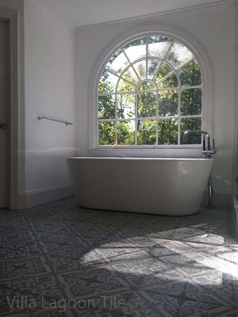 Stunning Cement Tile in Tone on Tone Gray   Cement Style