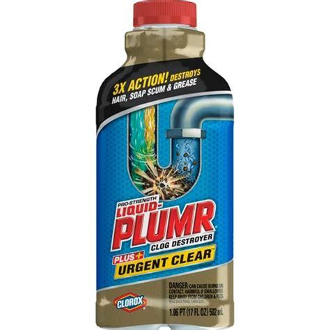 Liquid Plumr Pro Strength Clog Remover Urgent Clear 17 oz : Target