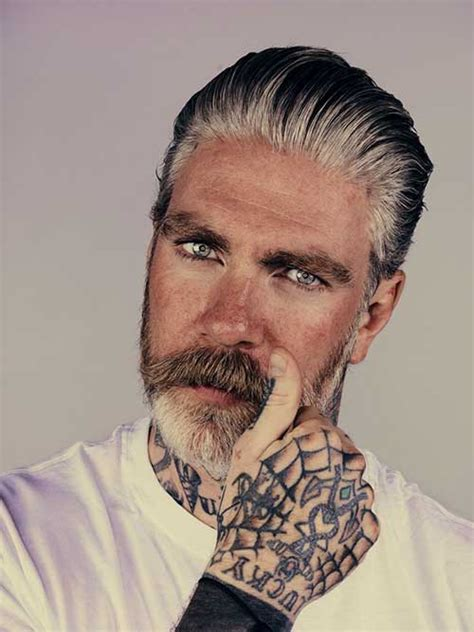 old guy with tattoos 15 mens hair color for gray mens hairstyles 2018
