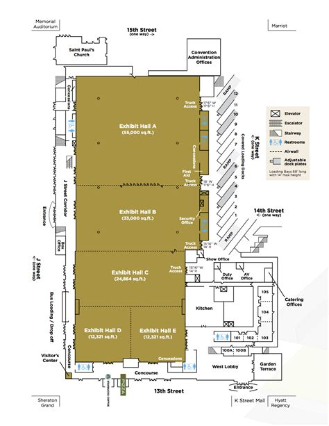 ta convention center floor plan exhibit hall