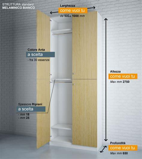 misure armadio standard a misura arredamenti produzione e vendita di mobili e