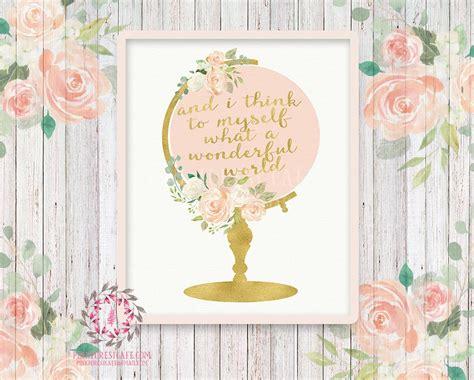 chic printable wall art wedding globe nursery boho shabby chic wall art print and
