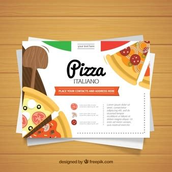 pizza template for a card flyer template vectors photos and psd files free