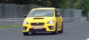 subaru nurburgring subaru wrx sti prototype seen testing at the nurburgring