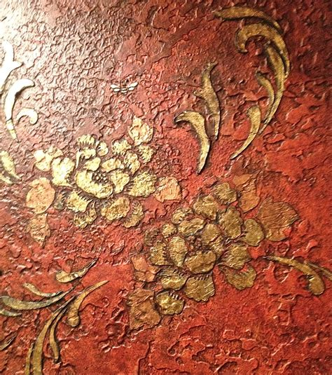 faux gold leaf paint raised patina gold leaf modellos and rds stencils work by