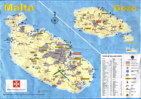 printable road map of malta large scale tourist map of malta with roads and cities
