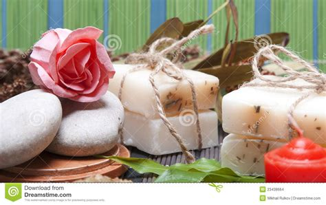 Handmade Soap Ingredients - handmade soap with ingredients stock images