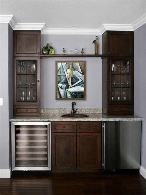 Built In Bar Cabinets Built In Bar Built Ins And Wine Fridge On