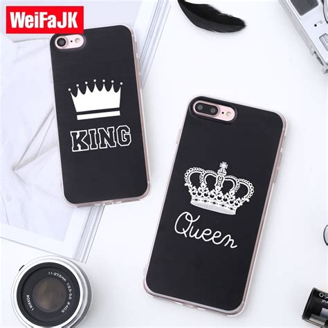 weifajk queen phone case  iphone      silicone tpu king pattern soft case