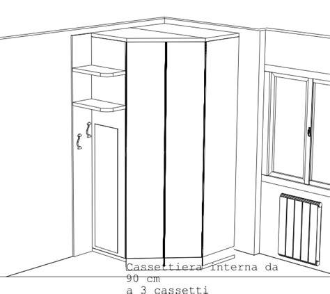 armadio angolare misure armadi ad angolo per camerette misure