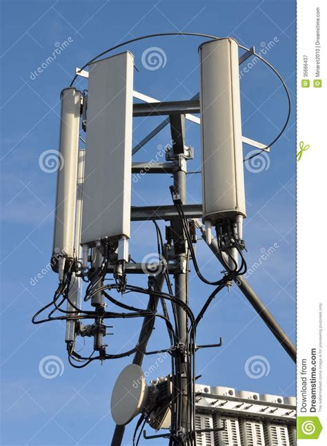 masts and antennas cellular systems stock image image of broadcast industry 35666437