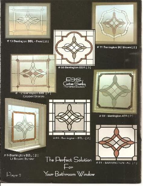 Designs For Bathrooms faux stained glass windows bathrooms sidelights transoms