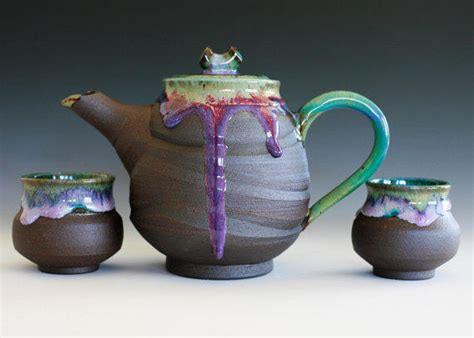 Handmade Tea Set - handmade ceramic tea set by ocpottery on from ocpottery on