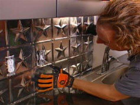 how to create a tin tile backsplash hgtv
