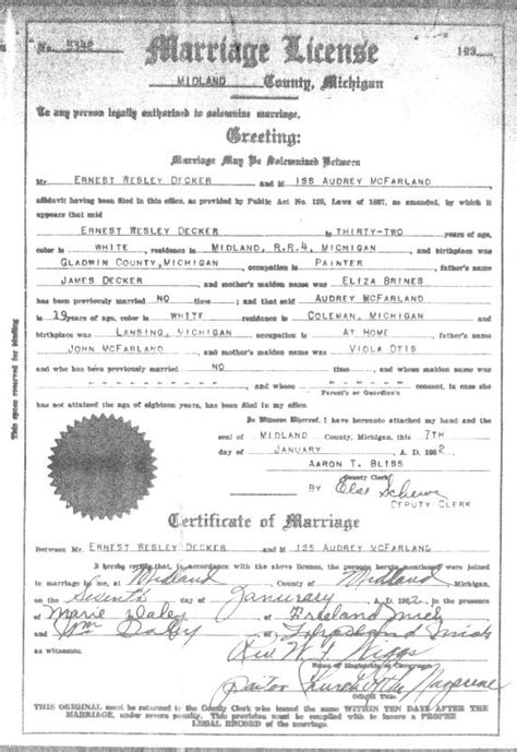 Michigan Marriage Records Free Marriage Licenses In Michigan