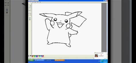 how to draw pikachu in ms paint 171 drawing illustration wonderhowto