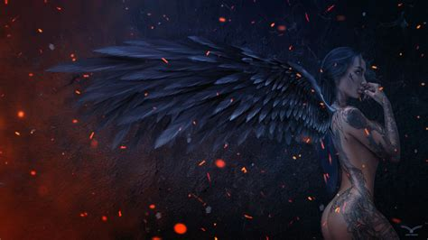 wallpaper 4k fantasy dark angel fantasy wallpaper 4k hd free download for desktop