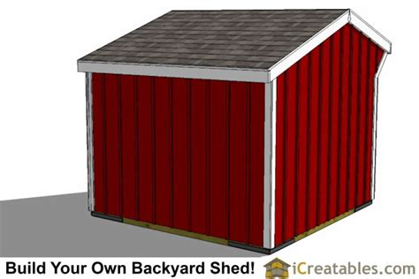 8x8 Storage Shed Plans by 8x8 Run In Shed Plans Run In Shed Plans