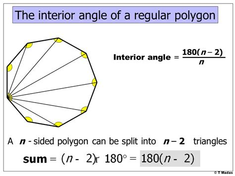 Interior Angles Of A Polygon by 169 T Madas Ppt