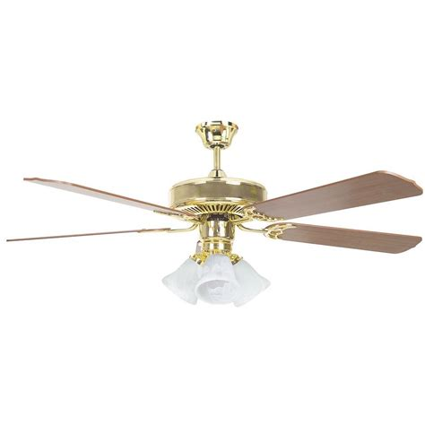 radionic hi tech tutor 52 in polished brass ceiling fan