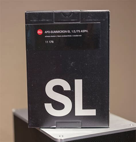 Leica Sl Sl Black Like New In Box Second leica apo summicron sl 75mm f 2 asph lens now shipping part 2 leica rumors