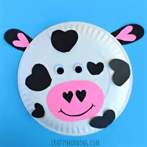 children s arts and crafts paper plate cow craft for crafty morning