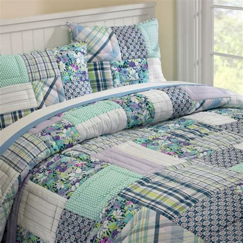 Patchwork Bedding - boho patchwork quilt sham pbteen
