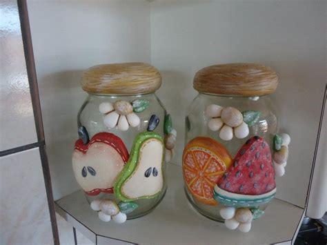 decoracion de frascos de vidrio con porcelana fria frascos de vidrio decorados para cocina buscar con