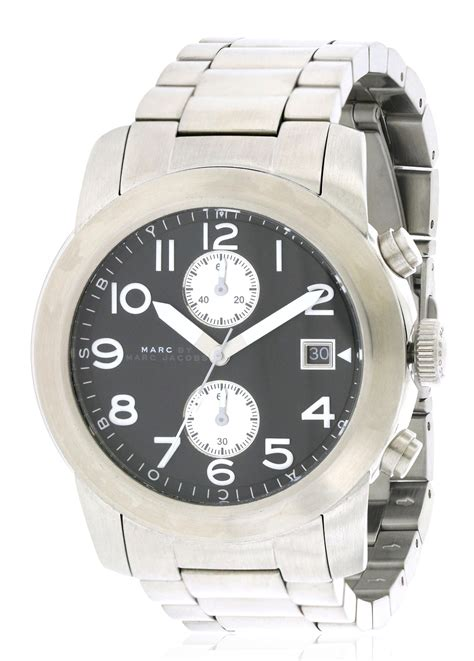 marc by marc larry chronograph stainless steel mens