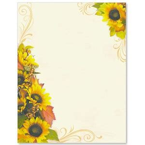 Golden Sunflowers Border Papers   PaperDirect's