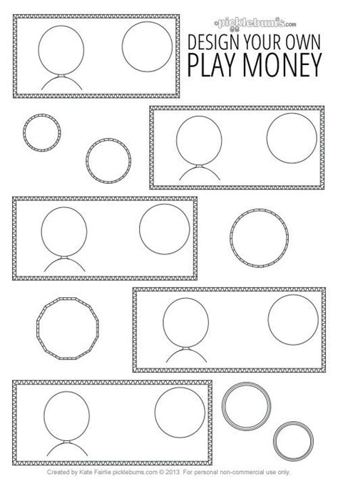 design your own template free design your own printable play money outside activities