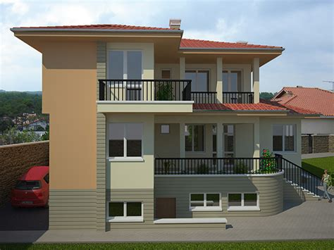 Three Story Home Plans by Avangard Two Storey Residential Building Kolena
